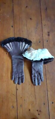 Dents 63 Qualiry leather And Fur gloves 72 Small Size