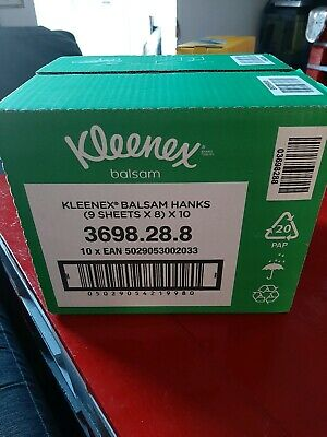 Kleenex balsam tissues Hanks (9sheets x8)x10