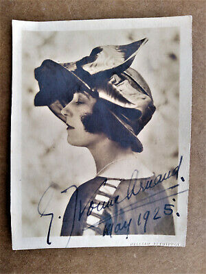 GERMAINE YVONNE ARNAUD French Actress SIGNED PHOTO Malcolm Arbuthnot 1925
