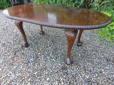 Quality Original Vintage Antique Solid Mahogany Extending Wind-Out Dining Table