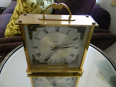 "Vintage ""Tempora"" 400 Day Brass Made In England Mantel Clock"