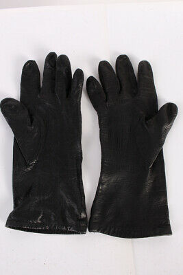 Vintage Leather Gloves  Warm Winter Classy Fleece Lined   Black - G77