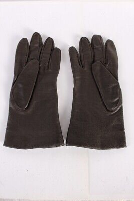 Vintage Leather Gloves  Fashion Fleece Lined Womens Size 7 Brown - G74