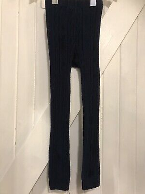 Girls Mini Boden Age  4-5 Years Blue  Cable Knitted Leggings