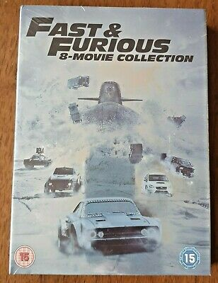 FAST AND FURIOUS 1-8 Complete Movie Collection DVD Boxset New/Sealed Free Post