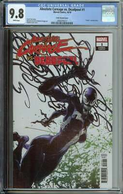Absolute Carnage vs Deadpool #1 CGC 9.8 Codex Variant Cover Clayton Crain