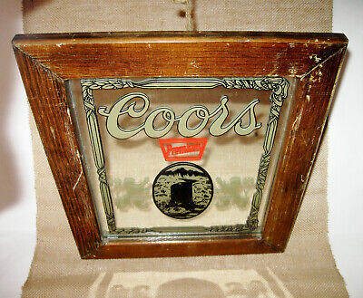modelo beer giant wood framed mirror 48x24 Mexican bar man cave game room mib