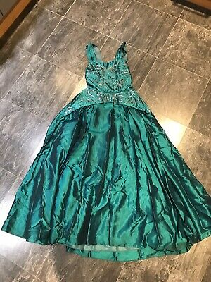 vintage evening dress Gown Fits 12