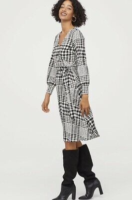 Brand New With Tags On Black And White  Dress Size S From H&M