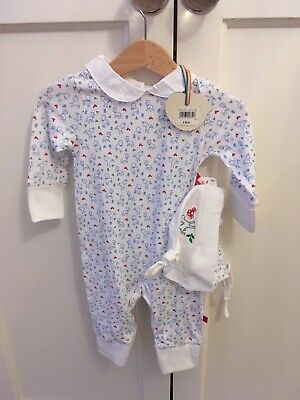 Little Bird by Jools Oliver, Sleepsuit with mittens & hat, new with tags, 3-6m