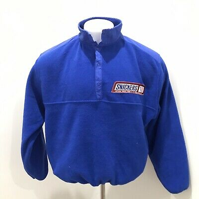 World Cup USA Snickers Vintage '94 Fleece 1/4 Button Up Pullover Sz L M Pls Read