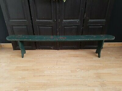 Charming Antique French Rustic Bench - Original Paint