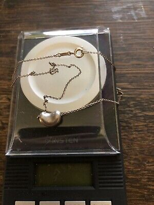 Signed Tiffany & Co Sterling Small Bean Pendant Necklace Elsa Peretti Estate Fin