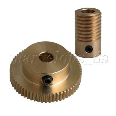 1:60 0.5-mode 60Teeth Brass Worm Gear Shaft Reducer 6mm Articles Parts