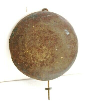 An Old Brass Faced Clock Pendulum Weight-60 mm Diameter