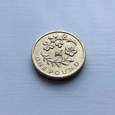 £1 Coin One Pound-Floral Emblem of Northern Ireland - Flax Shamrock Flowers 2014
