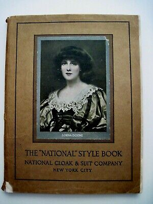 """1911 Booklet """"The 'National' Style Book"""" w/ Lovely Picture of Woman On Cover  *"""