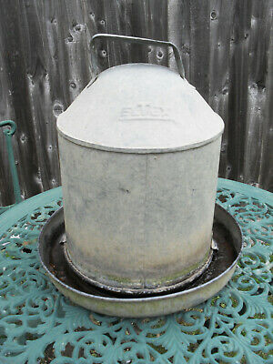 Vintage Galvanised Eltex Chicken Feeder Epsom Surrey KT19