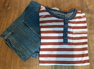 Boys Bundle - Age 12-13  Skinny Jeans and Striped Top
