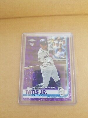 2019 Topps Chrome Update Fernando Tatis Jr Purple Refractor /175
