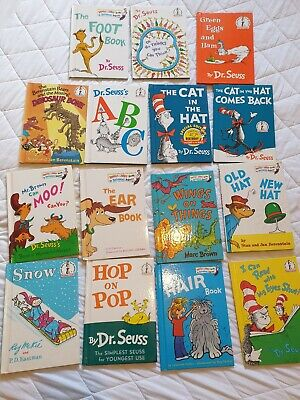 VINTAGE Dr Seuss Cat In The Hat Book Set 27 books for beginners