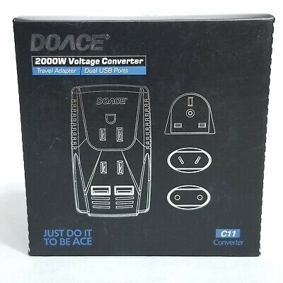 2019 Upgraded DOACE C11 2000W Travel Voltage Converter