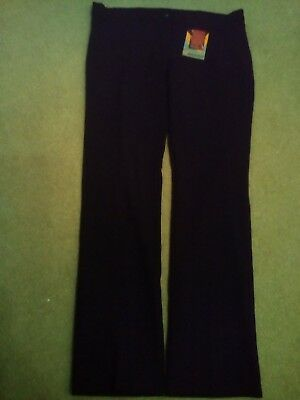"Girls black school trousers 28"" waist BRAND NEW WITH TAGS"