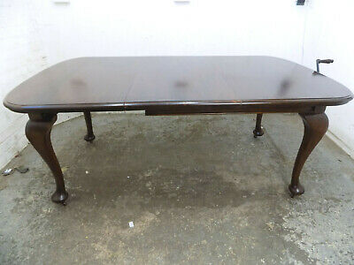 antique,edwardian,mahogany,extending,wind out,dining table,cabriole legs,table