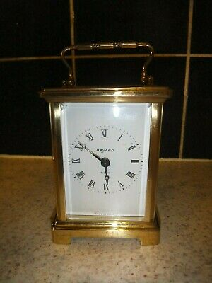 Vintage BAYARD 8 Day Brass CARRIAGE CLOCK by Duverdrey & Bloquel