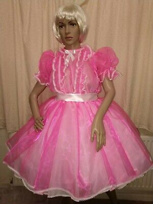 Sissy Adult Baby Hot Pink Organza Dress