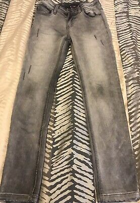 Boys Bauhaus Denim Jeans Grey Faded Look Size 10 Excellent Condition