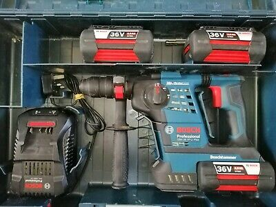 Bosch Hammer Professional GBH 36 VF-LI Plus 3 x 4.0ah Batteries Case
