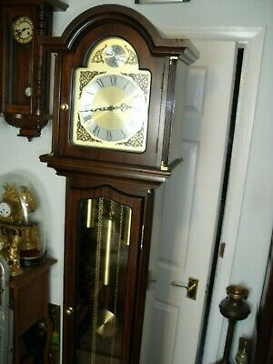 Vintage Tempus Fugit Longcase Westminster Chime Grandfather Clock