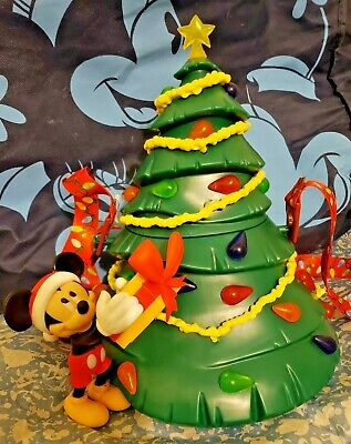 NEW LIGHT UP ! Disney Parks MICKEY TREE Popcorn Bucket Christmas Holidays 2019