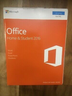 Microsoft Office Home and Student 2016 for Windows 1 PC KEY B4