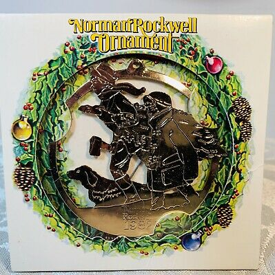 Norman Rockwell 1982 Christmas Ornament w/packaging McDonalds promo