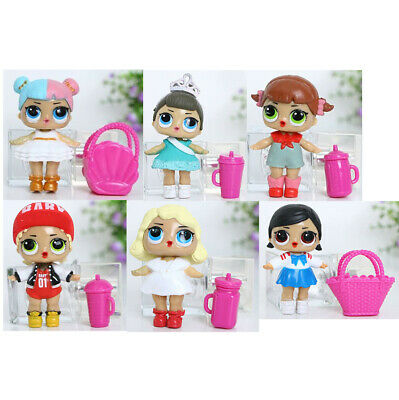6 Pcs LOL Surprise Girls Dolls w/Accessory For Kids Party Toys Figures Gift Set