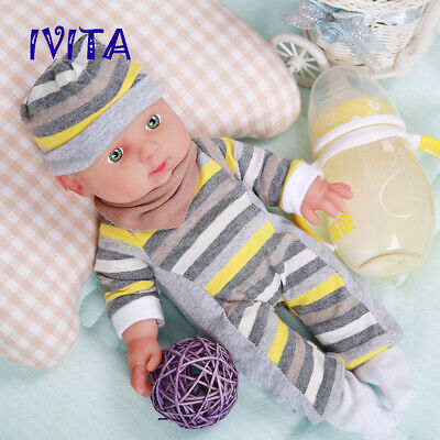 12'' Full Body Silicone Reborn Doll Cute Face Baby Girl 1200g Xmas Gift Toy