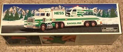 1995 HESS Truck (Toy Truck and Helicopter) NEW In Box