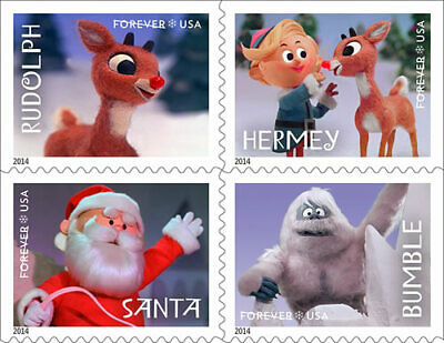 US Scott #4946-4949 Rudolph Block of 4  From Booklet 4949b MNH ***FREE SHIP***