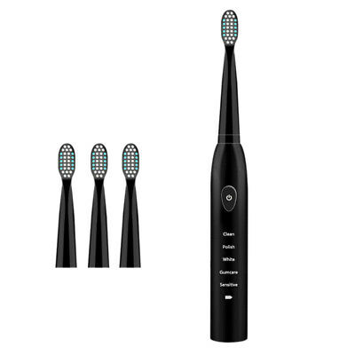 5 Mode Sonic Rechargeable Electric Toothbrush 4x Brush Heads Waterproof Ipx