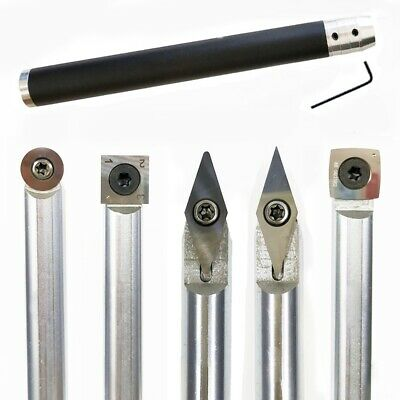 Wood Turning Tool Chisel Changeable Tungsten Titanium Tip Lathe Tool Insert