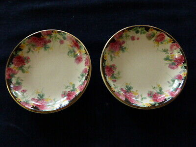 Royal Doulton Pin Dishes x 2 (Clover pattern) - England