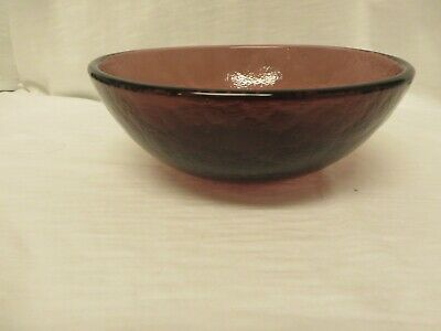 """FIRE AND LIGHT Recycled Glass  6"""" Bowl, Purple Plum, Handmade in  Arcata, CA"""