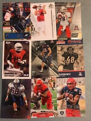 (88) Arizona Wildcats Football Card Lot- Gronkowski- Foles- Hill- Carey- Thomas