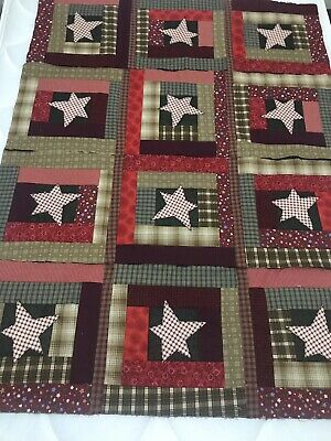 Incomplete Quilt Stars And Checks