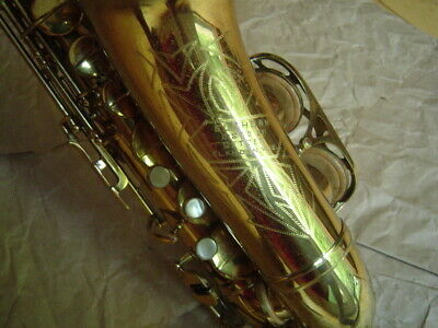 """Vintage """"Elkhorn"""" Stencil Alto Sax - Made in Italy by Rampone or Orsi"""