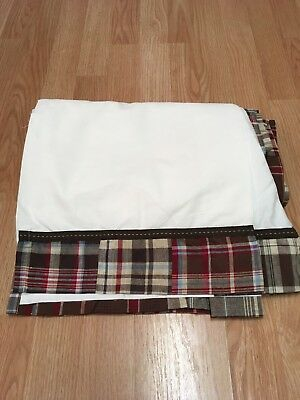 Pottery Barn Kids Crib Dust Ruffle Boys Madras Crib Skirt