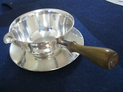 VINTAGE TIFFANY STERLING SILVER PIPKIN/SAUCE BOAT with UNDERPLATE