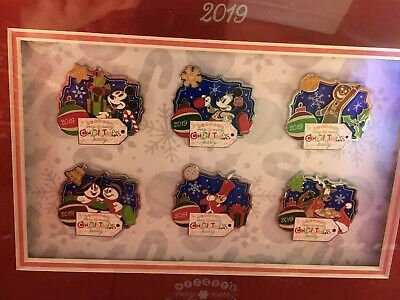 2019 Mickey's Very Merry Christmas Party Disney World Pin Framed Set LE 500